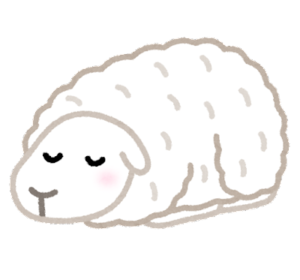 hitsuji-sleeping